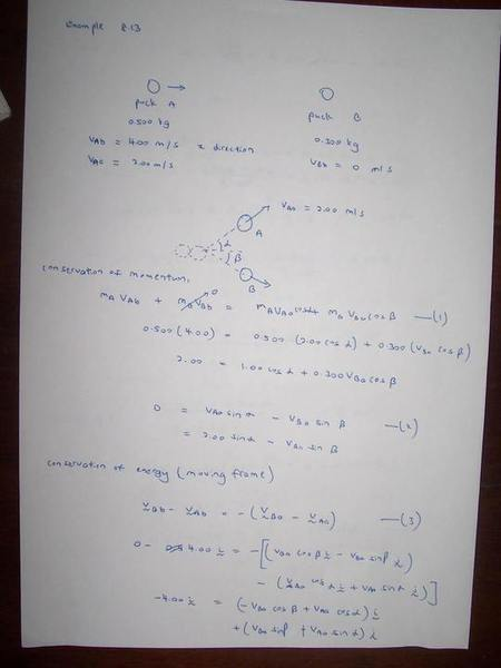 Elastic Collision Why I Am Wrong Physics Forums