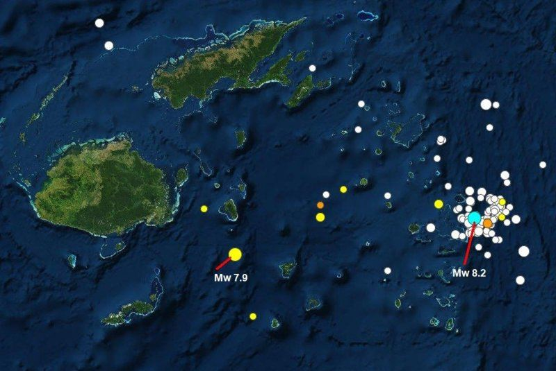 180919 and 0907  UT M 8.2 - blue, 7.9 - yellow E of Fiji1a.JPG