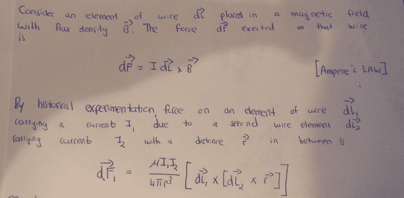 Deriving the Biot Savart Law | Physics Forums