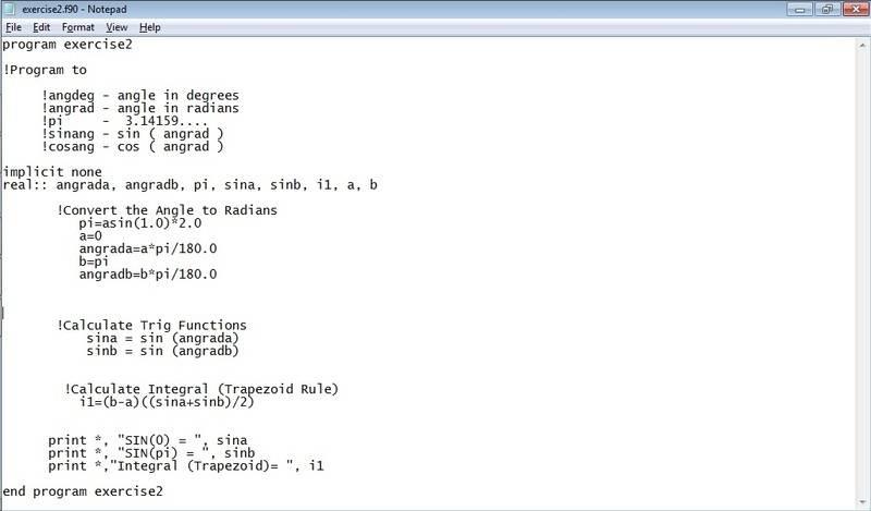Computational Physics Programming using fortran g95