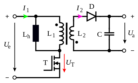 445px-Flyback_converter_with_Transistor.svg.png