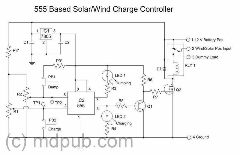 will this solar charge controller circuit work physics forums rh physicsforums com Solar Panel Setup Diagram Solar Cell Wiring-Diagram