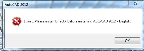autocad direct x istiyor.png