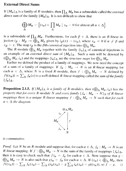 Bland - Proposition 2.1.4 ... inc External Direct Sums  ... .png