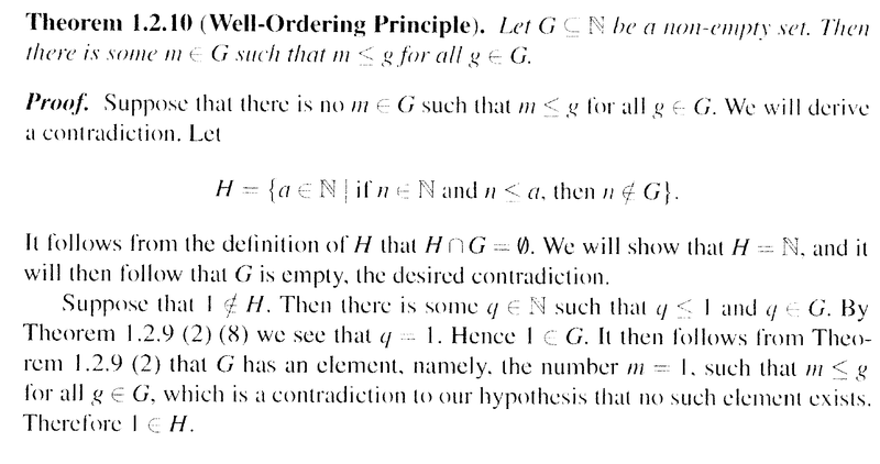 The Well Ordering Principle For The Natural Numbers Physics Forums