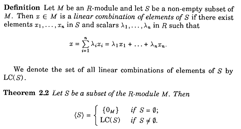 Blyth - Defn of Linear Combination .png