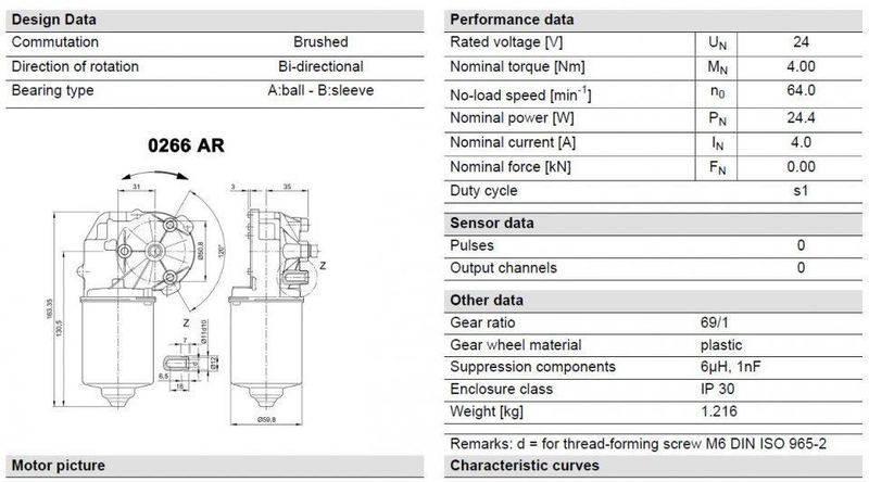 Wiper motor torque calculation for Measure torque of a motor