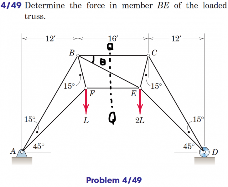 Statics Problem 4/49: Method of Sections | Physics Forums