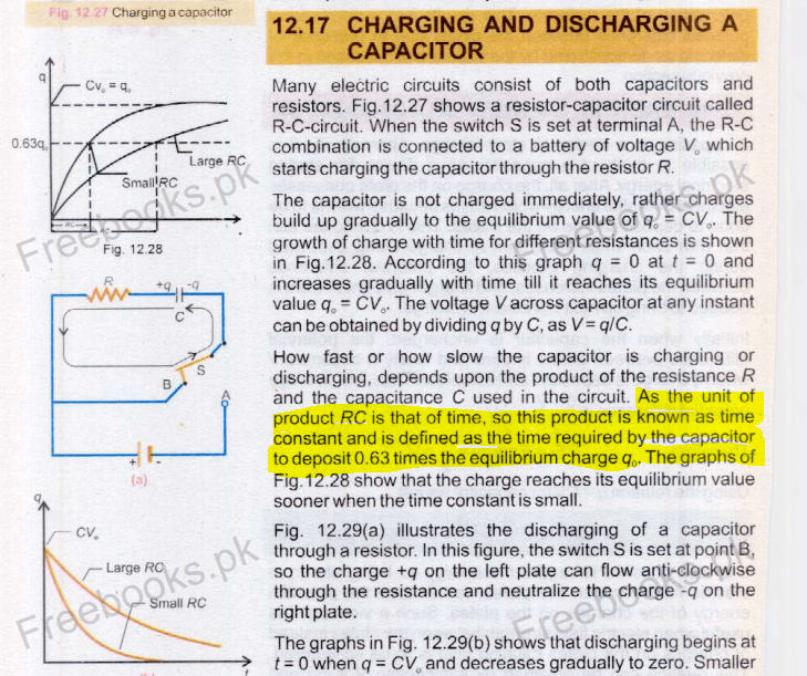 Charging and Discharging of Capacitor.PNG
