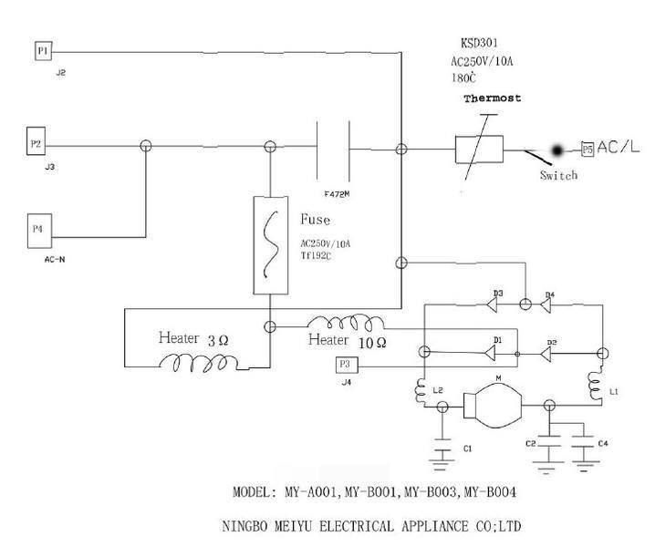 coffee maker circuits physics forums rh physicsforums com schematic diagram of coffee maker Circuit Diagram for a Coffee Maker
