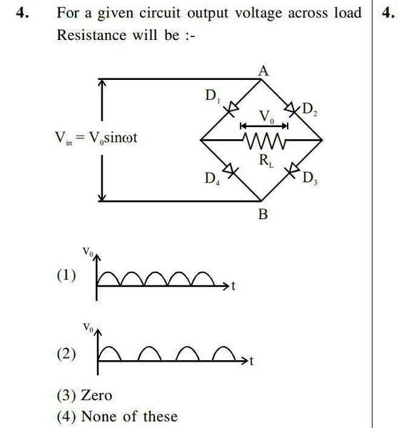 Output Voltage In Circuit With Diodes