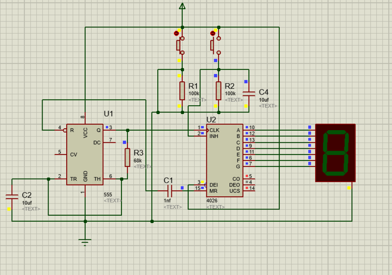 Need your help with 7 segment display using 4026 and NE555