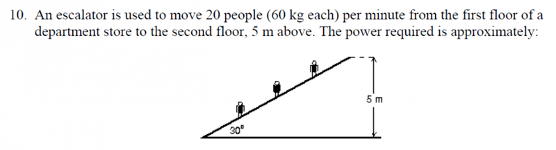 Power Required By Escalator Physics Forums