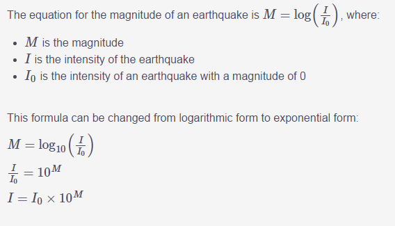 Richter Scale | Physics Forums - The Fusion of Science and Community