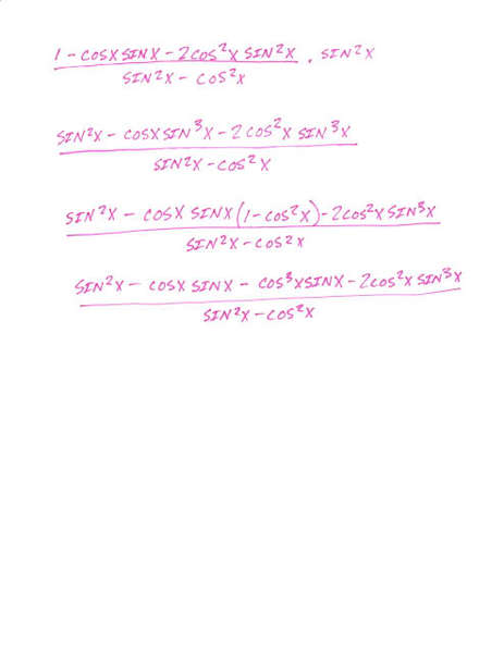 Difficult Trig Identity (no double ange, power reducing
