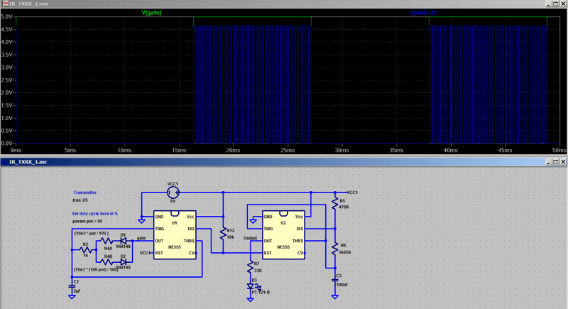 Circuit Analysis of IR transmitter/receiver | Physics Forums