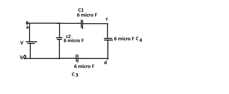 equivalent capacitance problem