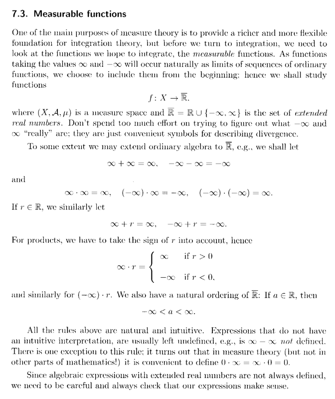 Lindstrom - 1 - Section 7.3 ... Measurable Functions ... Part 1 .png