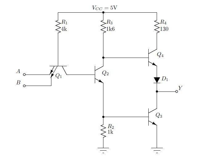 Problem Regarding A Transistor State In A Nand Circuit