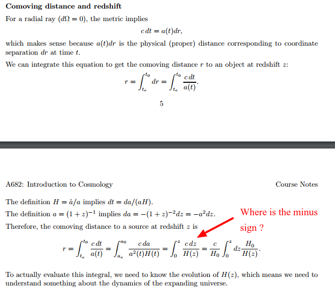 I Have Searched The Web And Found Almost Identical Derivations In Other  Courses Or Publications, But I Never Read The Explanation For Why The Minus  Sign ...