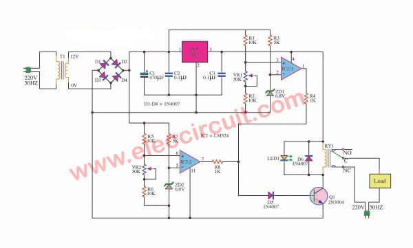 How does a voltage regulator differ from a zener diode
