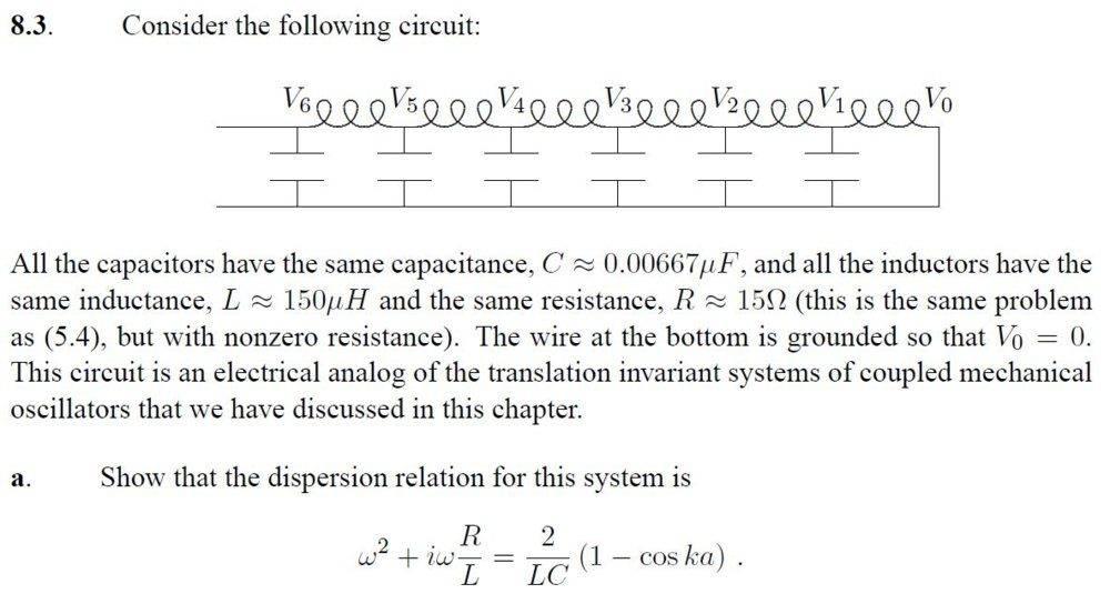 Oscillation of a driven RLC network | Physics Forums