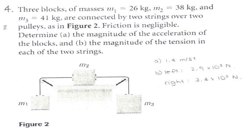 Free Body Diagrams - Finding Acceleration, and tension | Physics ...