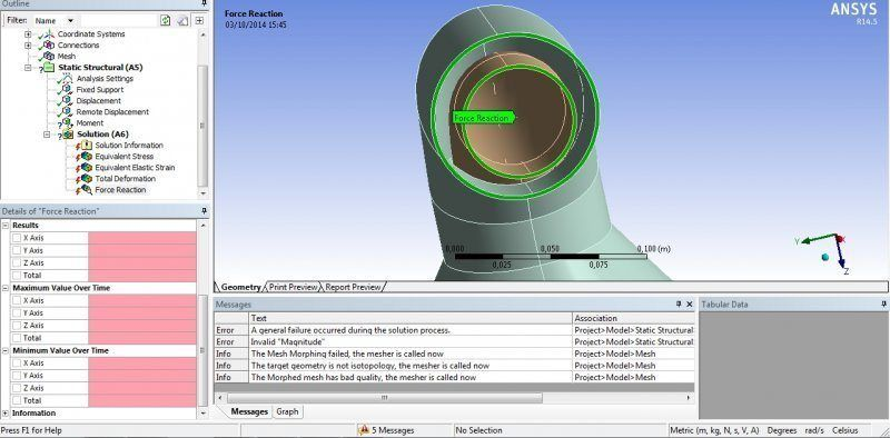 Angle of deformation in ANSYS Workbench | Physics Forums