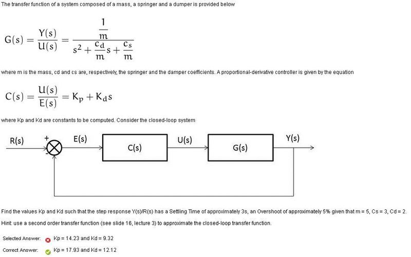 2nd Order Control system PD controller | Physics Forums