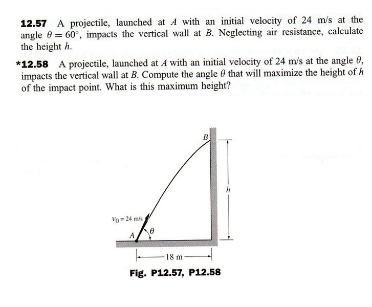 Compute The Angle  U03b8 That Will Maximize The Height Of H Of