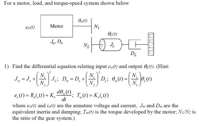 Dc Motor Differential Equation Physics Forums