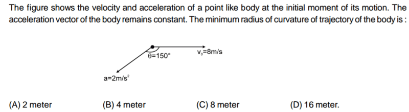 Constant acceleration and radius of curvature | Physics Forums