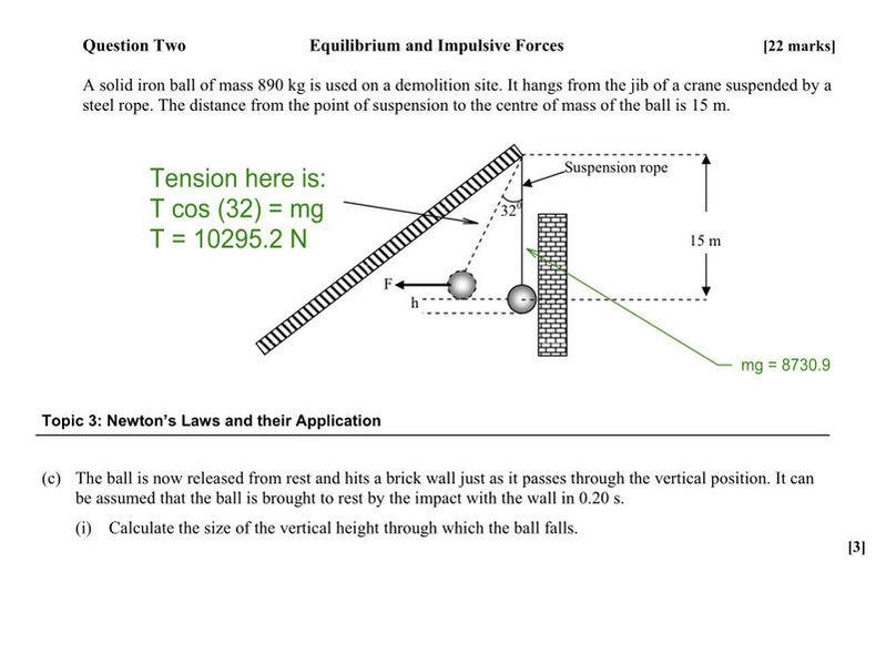 Equilibrium And Impulsive Forces Crane And Demolition Ball Problem Physics Forums