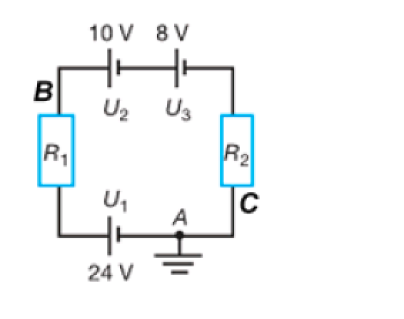 draw an electric circuit potential graph