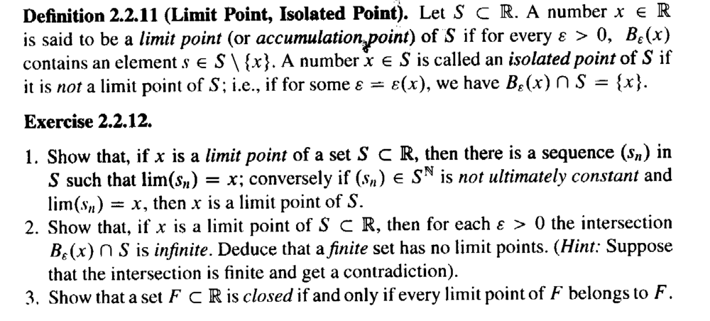 Sohrab - Definition 2.2.11 ... Limit Point  ... .png