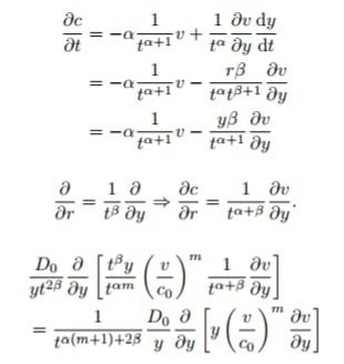 how to find change of variable equation