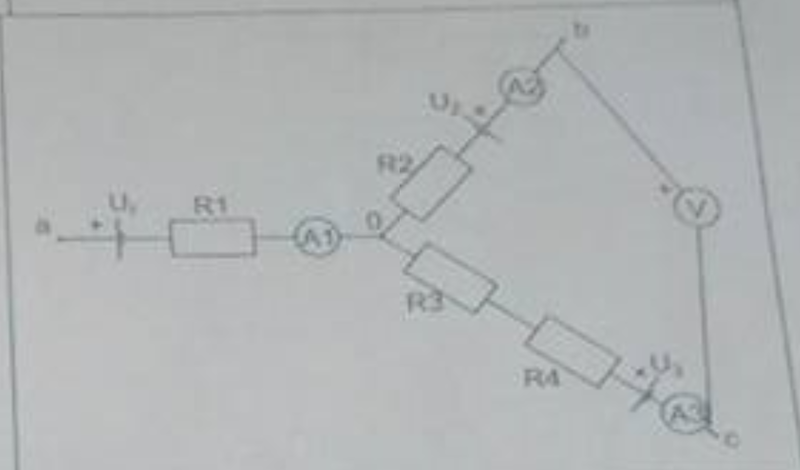 voltmeter and ammeter calculation in a circuit
