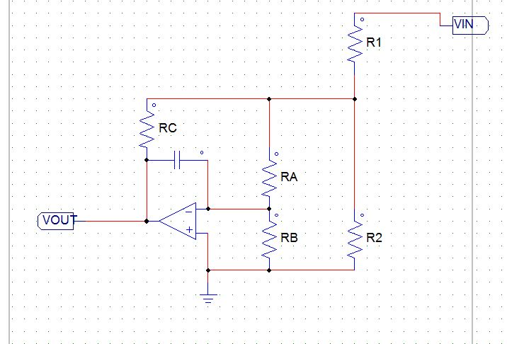 Transfer function question opamp + voltage divider | Physics