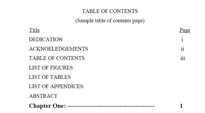 Table of Contents and List of Figures in Latex | Physics Forums