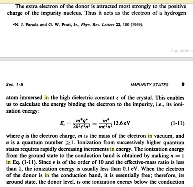Binding Energy Of The Electron In Hydrogen Atom.