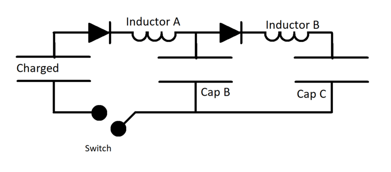 lc circuits in series with diodes