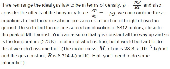 how to bring density in ideal gas equation
