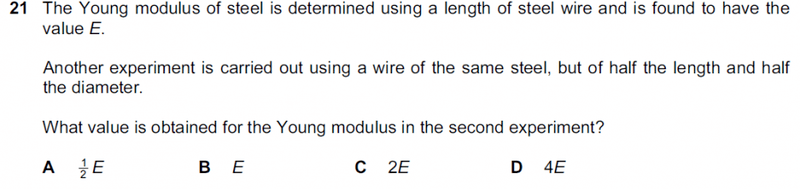 investigating the young modulus of a wire essay Practical 2a (young's two slit) (young's modulus) use an appropriate instrument to measure the diameter of a wire.