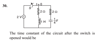 Time Constant for RLC circuit | Physics Forums