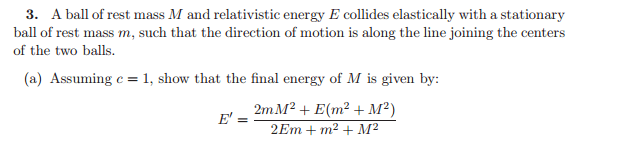 Relativistic Elastic Collision Physics Forums