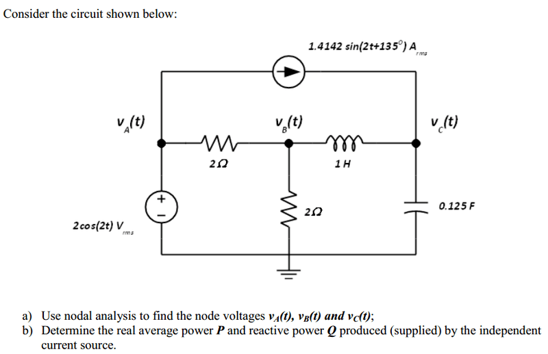 AC Circuit Analysis (Nodal RMS) | Physics Forums