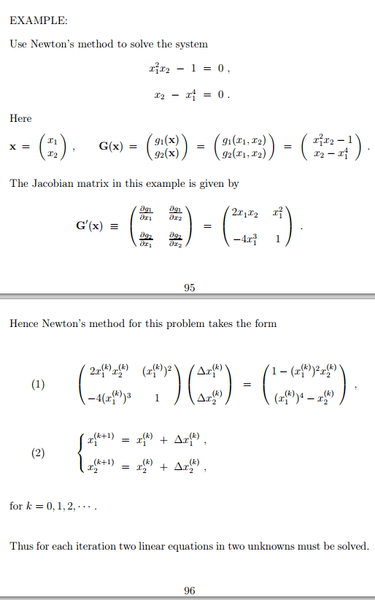 Program to solve system of nonlinear equations | Physics Forums