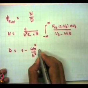 Plasma Physics: Fundamentals and Applications (NPTEL):- Lecture 35: Landau damping and growth of waves