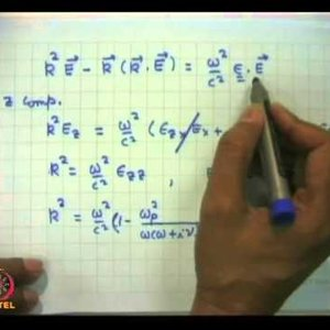 Plasma Physics: Fundamentals and Applications (NPTEL):- Lecture 30: Electromagnetic propagation at oblique angles to magnetic field in a plasma
