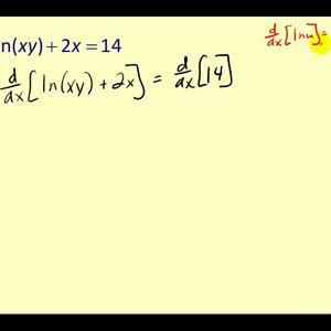 Implicit Differentiation of Equations containing Transcendental Functions